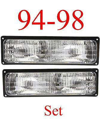 (94 98 Chevy GMC Stock Parking Light Set L&R 2Pc Silverado, Tahoe, Yukon Suburban)