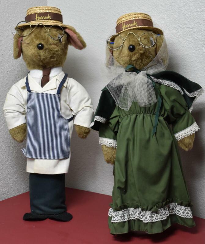 """Harrods vintage door stopper male female mousecouple Janes Originals 18"""" Mint GG"""
