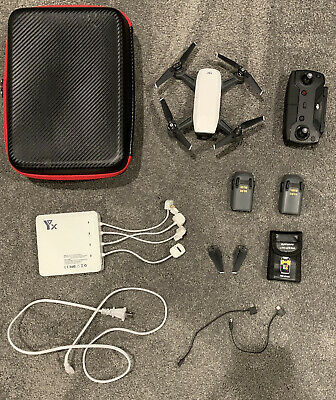 DJI Inspirit Drone With two Batteries, Custom Case, Charging Station, And Lots More