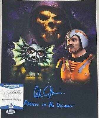 Alan Oppenheimer Signed 11X14 Photo Skeletor Man At Arms Beckett Bas Coa 406