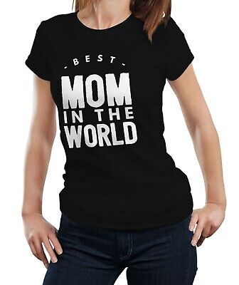 Best Mom In The World - Cute Mother's Day Gift Mum Mommy Retro Tshirt (Best Mom In The World)