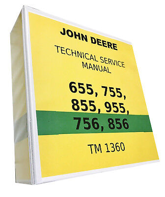 855 John Deere Technical Service Shop Repair Manual