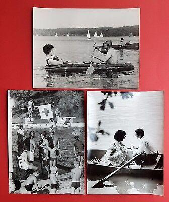 3 x Großformat DDR Foto Schnappschüsse am See, im Bad aus Fotografen    ( F16758