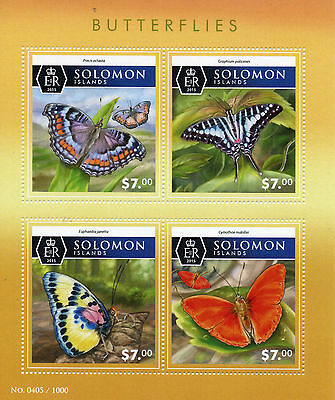 Solomon Islands 2015 MNH Butterflies 4v M/S Insects Common Swordtail Commodore