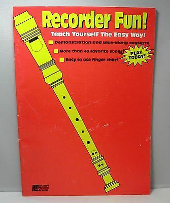 Teach Yourself Recorder - RECORDER FUN! Teach Yourself the Easy Way / Hal Leonard Publishing (1990)