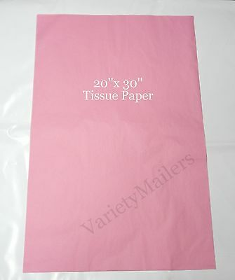 """50 SHEETS of PREMIUM GRADE PINK TISSUE PAPER 20""""x 30"""" MATTE FINISH ~ Made in USA"""