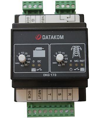 Datakom Dkg-173 230400v Generator Mains Automatic Transfer Switch Panel Ats