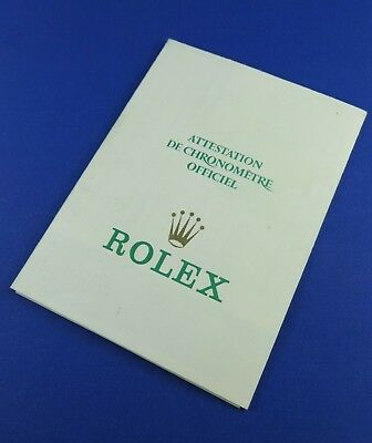 Original ROLEX Open Guarantee w/ Serial Number Punched. Ref. 564.00.250.2.1986