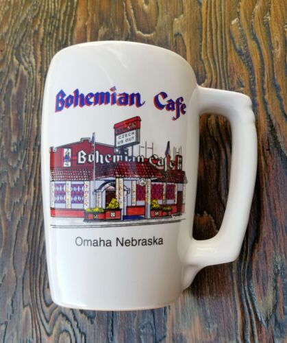 Vtg FRANKOMA Beer Mug Stein Advertising BOHEMIAN CAFE Omaha Nebraska-Souvenir