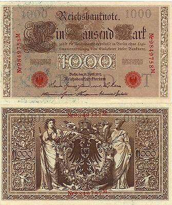 1.000 Reichs - Mark - neuwertig ( mint )