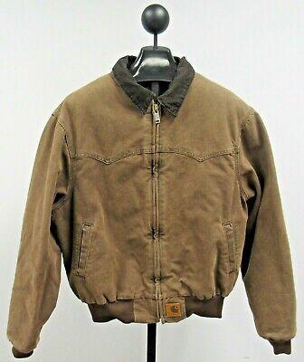 Carhartt WIP Bomber Zip Jacket / Coat Men's L Dark Brown Chore Heritage