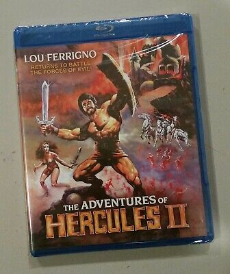 Adventures Of Hercules II (Blu-ray, 2017) Shout Factory [New & Sealed] Adventure (Movie Hercules 2017)