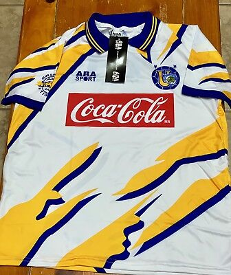 TIGRES AWAY SOCCER JERSEY ABA SPORT 1994 SIZE XL image