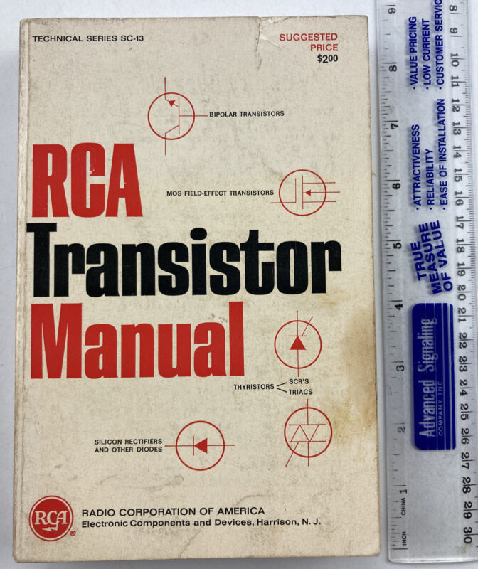 RCA Transistor Manual SC-13, 1967 Paperback, Acceptable