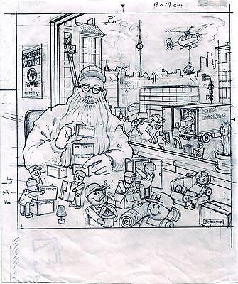 Originalzeichnung Gerhard Seyfried Berliner Umzugsunternehmer Klaus Zapf