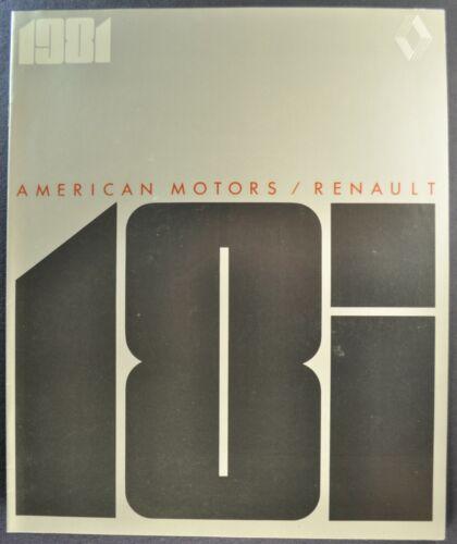 1981 Renault 18i Catalog Sales Brochure Sedan Wagon AMC Excellent Original 81