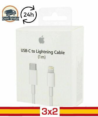 Cable cargador USB Tipo C ORIGINAL Lightning 1M iPhone 11 Pro 12...