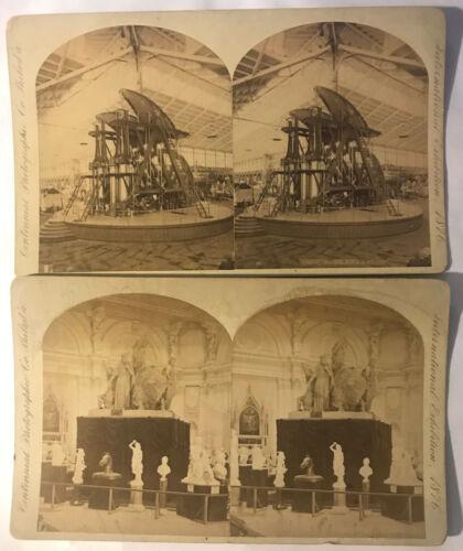 1876 Philadelphia Worlds Fair International Exposition Stereoview Photo Lot of 2