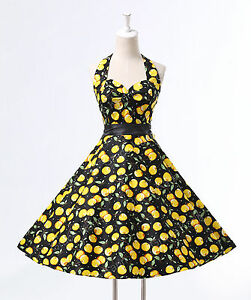 Vintage 1950s 60s Rockabilly Swing Pinup Retro Prom Party EVENING COCKTAIL dress