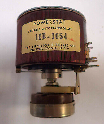 Superior Electric Powerstat Variable Autotransformer 10b-1054 Pot Tested