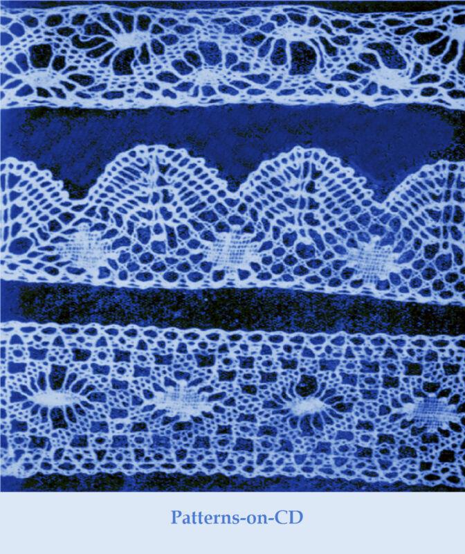 Victorian Bobbin Lace making patterns teaching guide CD