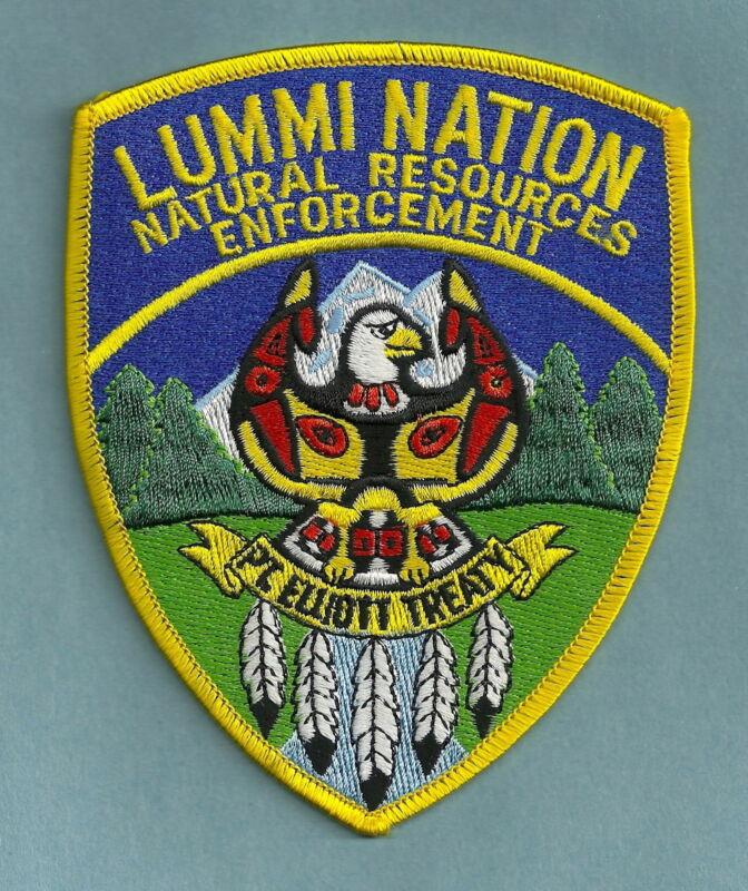 LUMMI NATION WASHINGTON TRIBAL FISH & GAME ENFORCEMENT SHOULDER PATCH
