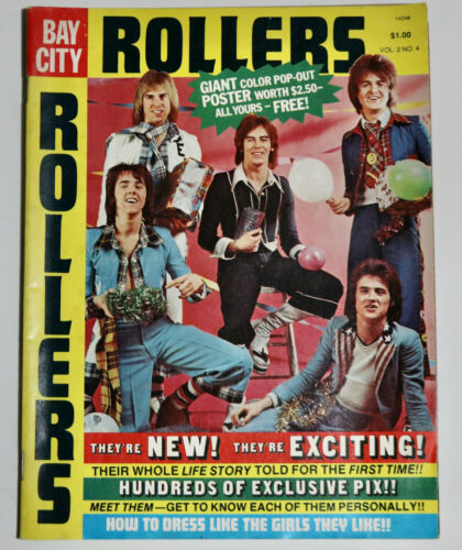 BAY CITY ROLLERS vintage 1975 magazine with poster