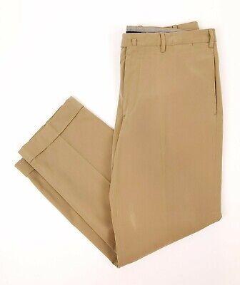 INCOTEX Men's 38 x 30 IncoChino Khaki Chino Pants Cotton Flat Front Cuffed