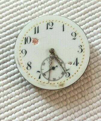 OLD UNBRANDED MANUAL WIND POCKET WATCH MOVEMENT STEM AT 3 FOR REPAIR OR PARTS