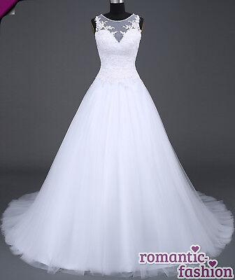 ♥2017 Brautkleid, Hochzeitskleid Weiß Größe 34-54 zur Auswahl+NEU+SOFORT+W045♥