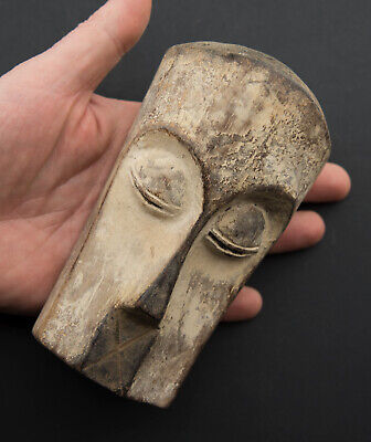 Masquette Tsogho Mask Diminutive African Gabon Wood 15cm Art First 16875