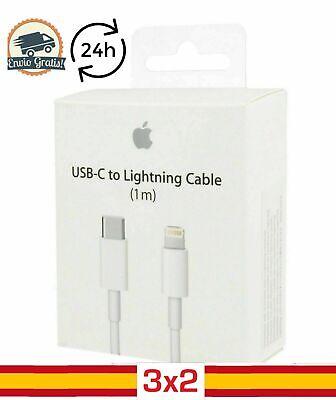 Cable cargador USB Tipo C ORIGINAL Apple Lightning 1M iPhone 11 Pro...