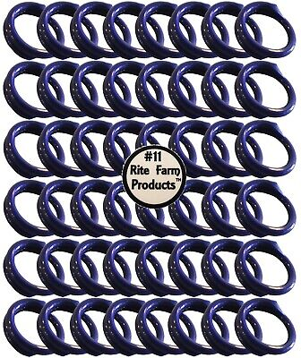 48 Blue 11 Leg Bands 1116 Chicken Poultry Chick Quail Pigeon Dove Duck Goose