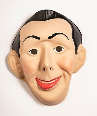 Vintage 1987 Peewee Herman Deluxe Adult Costume Mask Halloween Collegeville  - 1987 Halloween Costumes