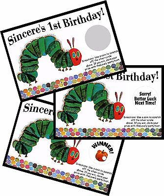 THE VERY HUNGRY CATERPILLAR SCRATCH OFF OFFS PARTY GAME CARDS BIRTHDAY FAVORS