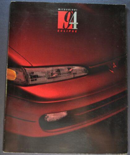 1994 Mitsubishi Eclipse Catalog Sales Brochure GS Turbo GSX Nice Original 94