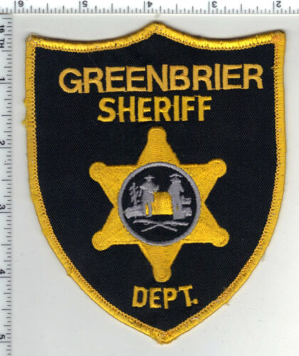 Greenbrier Sheriff Dept. (West Virginia) 1st Issue Uniform Take-Off Patch