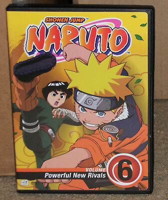 Naruto Volume 6 Poweful New Rivals DVD With Insert