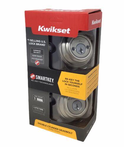 KWIKSET Satin Nickel SmartKey Double Cylinder Deadbolt