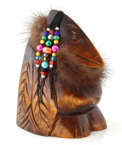 Raven+Kutkh+Wooden+Sculpture+Hand+Carved+Figurine+Russian+Kamchatka+Folk+Art