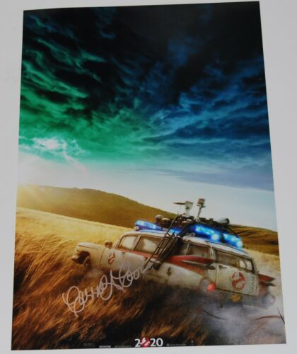 CARRIE COON signed (GHOSTBUSTERS AFTERLIFE) 12X18 Movie Poster photo W/COA