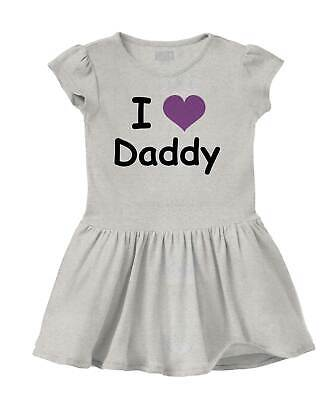 I Love Daddy Worlds Best Fathers Day Shower Youth Baby Rib Dress For