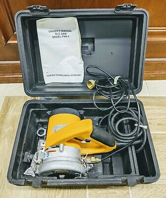 Felker Corded Wet Tile Saw 11800rpm In Carry Case With Water Tube Feed