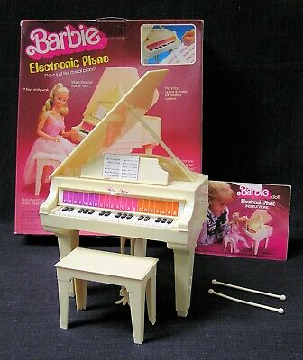 Vintage Barbie Electronic Piano with all accessories & original box
