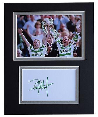 Paul Lambert Signed Autograph 10x8 photo display Celtic Football AFTAL COA