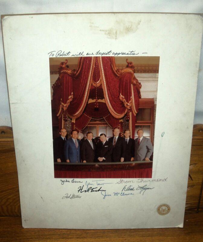 Republican Senatorial Inner Circle Autographed Photograph - Strom Thurmond &More