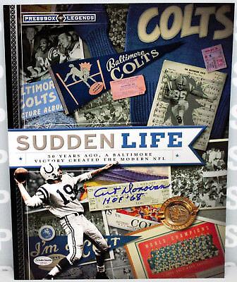 NEW Autographed Signed Art Donovan HOF Sudden Life Baltimore Colts Book w/COA