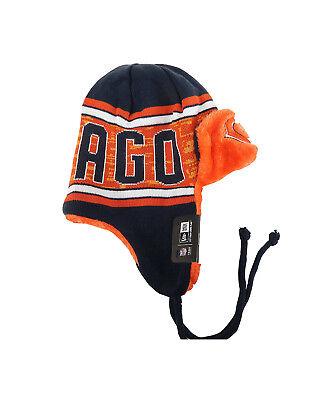 New Era Toque Beanie Men Unisex Hat Word Trap Helmet Chicago Bears Navy Orange New Era Toque