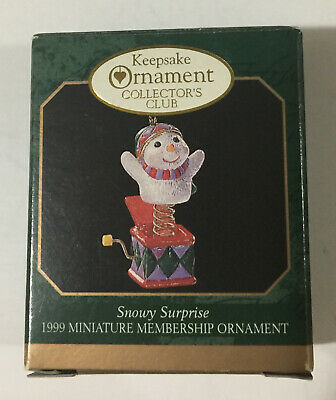 Hallmark Keepsake Miniature Ornament Collector's Club Snowy Surprise Dated 1999 for sale  Livingston