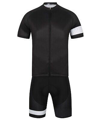 Alpe Pro Cycling Jersey & Padded Bib Shorts SET. Black Aero racing team kit.
